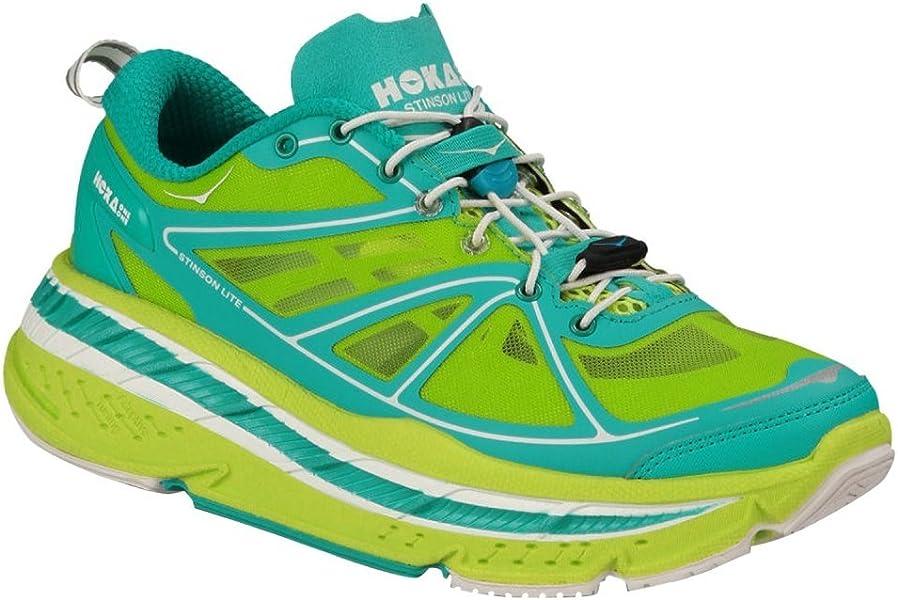 f403efd2c58 Hoka OneOne Men s Stinson Lite Running Shoes Acid Aqua White 7.5 B(M ...