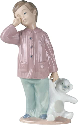 NAO Sleepy-Head. Porcelain Boy Figure.
