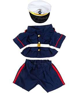 a494aca9c2f Amazon.com  Stuffems Toy Shop Navy   White Cheerleader Uniform Teddy ...