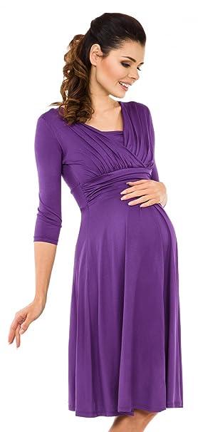 Zeta Ville Premamá - Vestido de Lactancia Efecto 2 en 1 - para Mujer - 526c