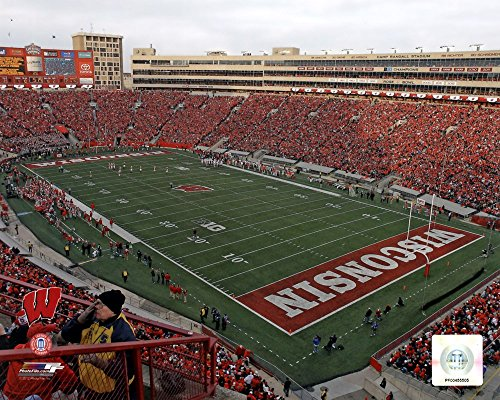 (Camp Randall Stadium University of Wisconsin Badgers 2012 Art Print, 10 x 8 inches)