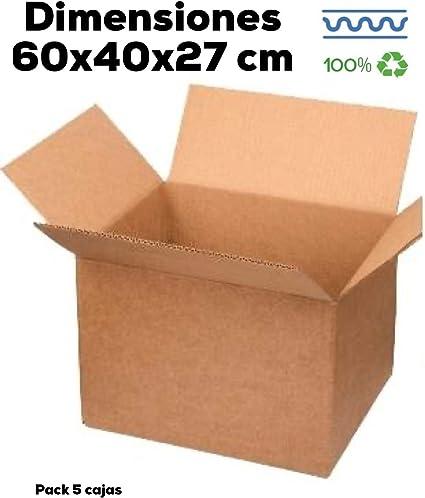 Cajas de Cartón Grandes Mudanza y Almacenaje. Distintos tamaños. Fabricadas en España. (5 60x40x27): Amazon.es: Oficina y papelería