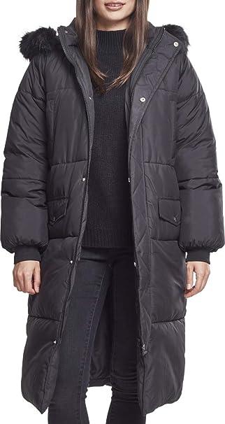Urban Classics Ladies Oversize Faux Fur Puffer Coat Chaqueta ...