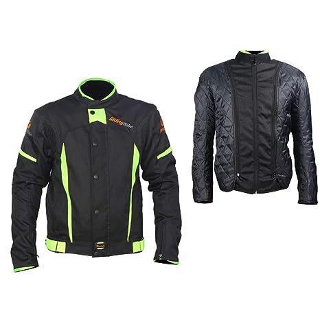 LKN - Chaqueta para motocicleta con capa térmica de algodón