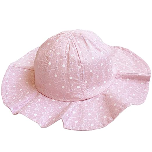 99018387 Image Unavailable. Image not available for. Color: Baby & Toddler Girls'  Ruffle Bucket Sun Protection Hat with Wide Brim Infant Sun Hat
