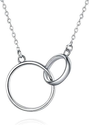 collier argent double anneau