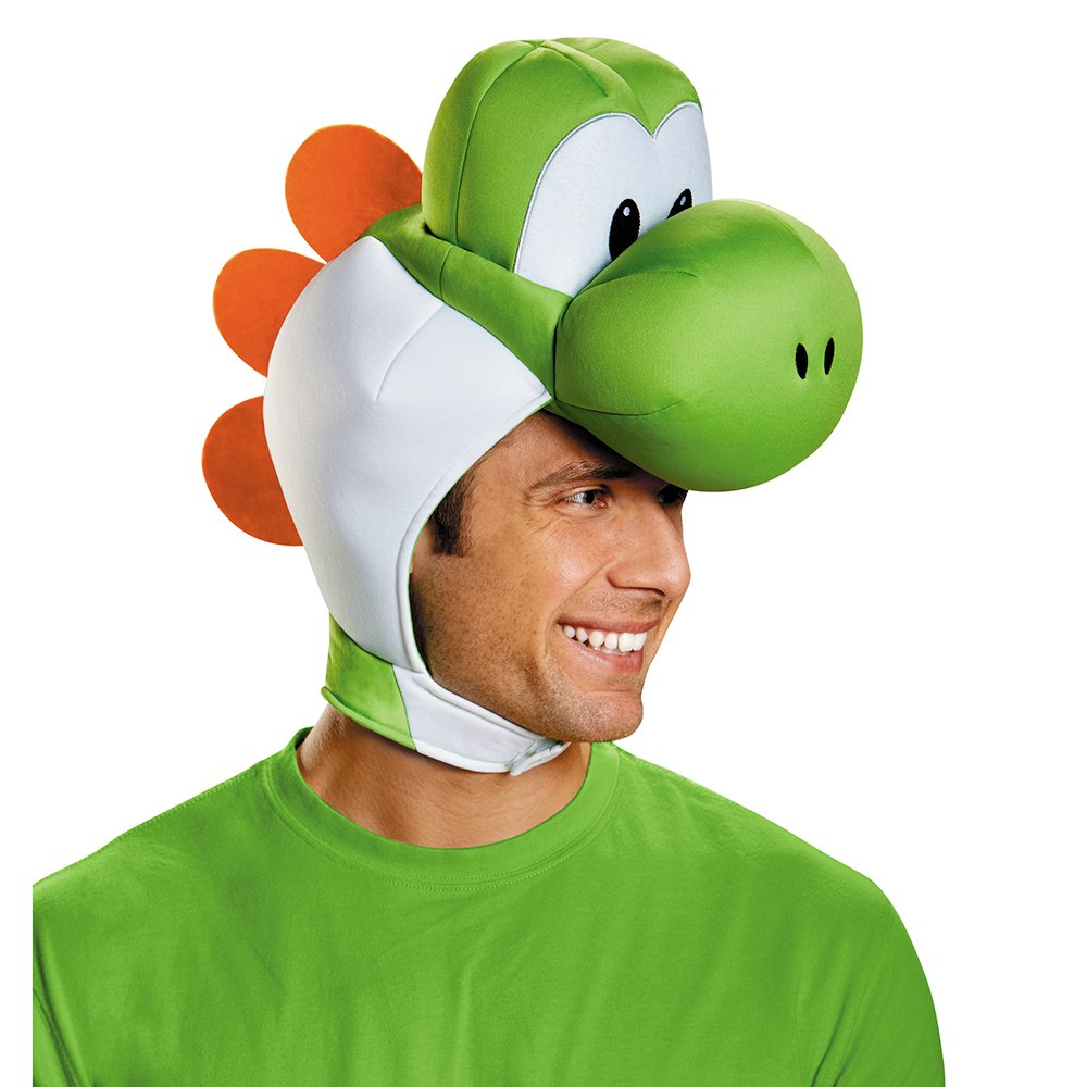 Disguise Men's Yoshi Costume Accessory Headpiece - Adult, Green, One Size