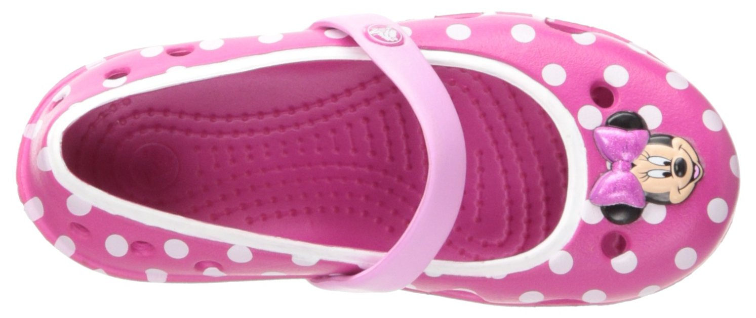 Crocs Keeley Minnie Flat (Toddler/Little Kid),Candy Pink/Carnation,11 M US Little Kid by Crocs (Image #7)