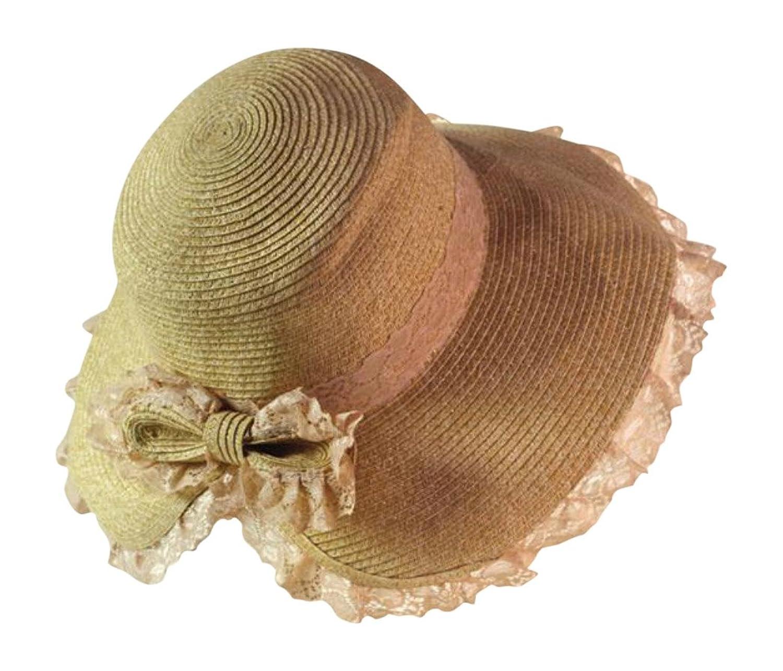 Victorian Style Lace Flounced Sonnet Sunbonnet Sun Bonnet Woven Hat