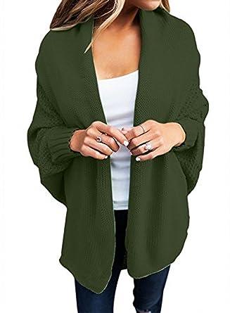 LOBiI78lu Women's Batwing Knitted Long Cardigan Sweater Coat Warm ...