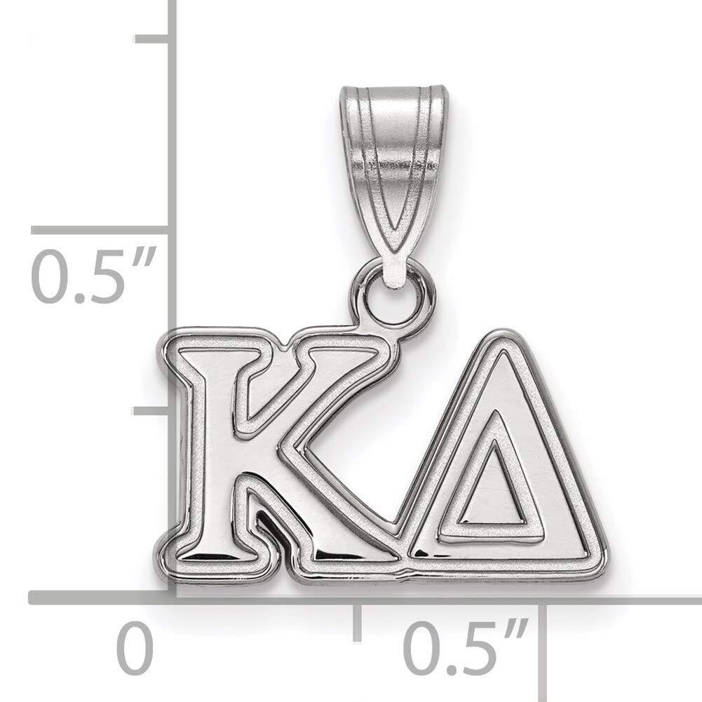 Lex /& Lu LogoArt Sterling Silver Kappa Delta Medium Pendant LAL160699