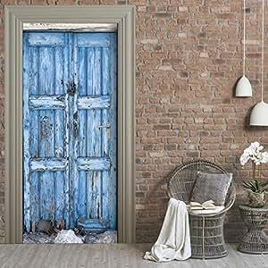 Papel pintado autoadhesivo para puerta dise o de flores - Papel pintado autoadhesivo ...