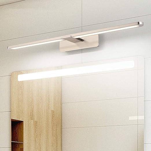 Lámpara de Espejo Led Luz Baño 10W 820LM 60cm 230V 4000K,Lámpara de Acero Inoxidable 3 en 1 IP20 Clase II,Diseño Delgado,Espejo Frente/Gabinete/Iluminación de Pared [Clase de eficiencia energética A+]: Amazon.es: Hogar