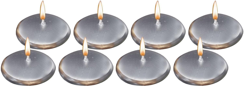 Biedermann /& Sons 8 Floating Candles Large Round Burgundy