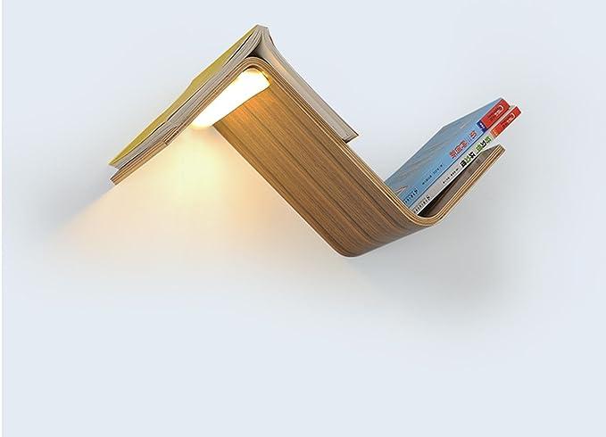 Seeksung lampada da parete a led lampada da comodino libreria