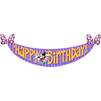 Hallmark Minnie's Bow-Tique Dream Party Birthday Banner (1ct): Toys & Games