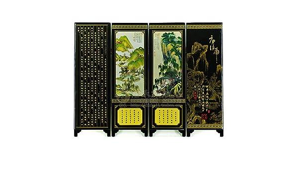 Estilo china antigua artesanía en madera Mobiliario de Hogar Oficina Regalos Decoración paisaje pintura: Amazon.es: Hogar