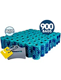 Bags on Board Odor Control Dog Poop Bags and Dispenser | Strong, Leak Proof Dog Waste Bags | 9 x14 Inch Scented Waste...