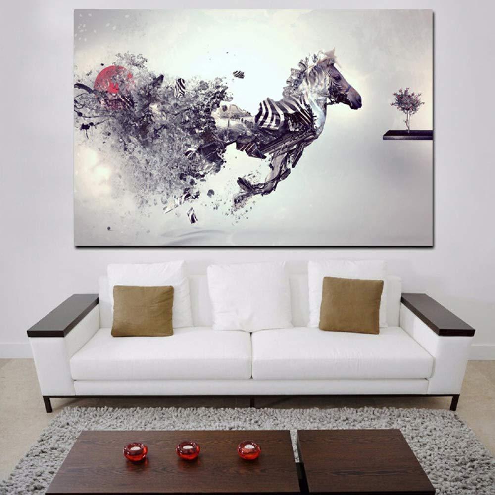 RTCKF HD Print Animal Moderno Abstracto Creativo Creativo Caballo ...