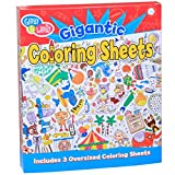 C.R. Gibson Large Coloring Page Posters Kids, 20'' W x 27.75'' H, 3pc