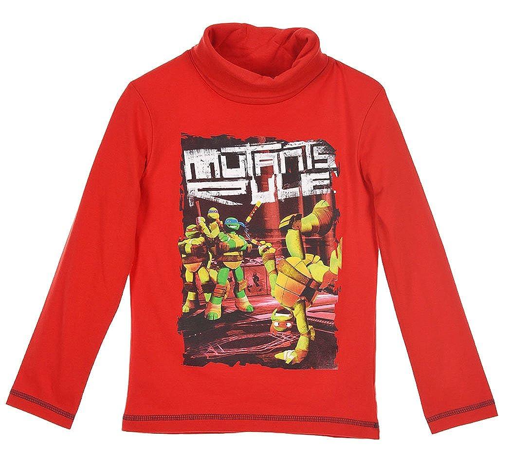 Bajo Pull para niño Tortugas Ninja Rojo de 3 a 8 años Rojo 3 ...
