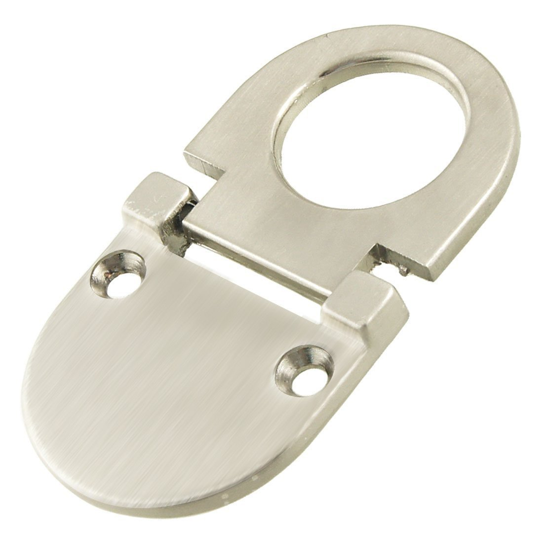 SODIAL(R) Cupboard Drawer Metal Flush Mount Pull Ring Handle Silver Tone