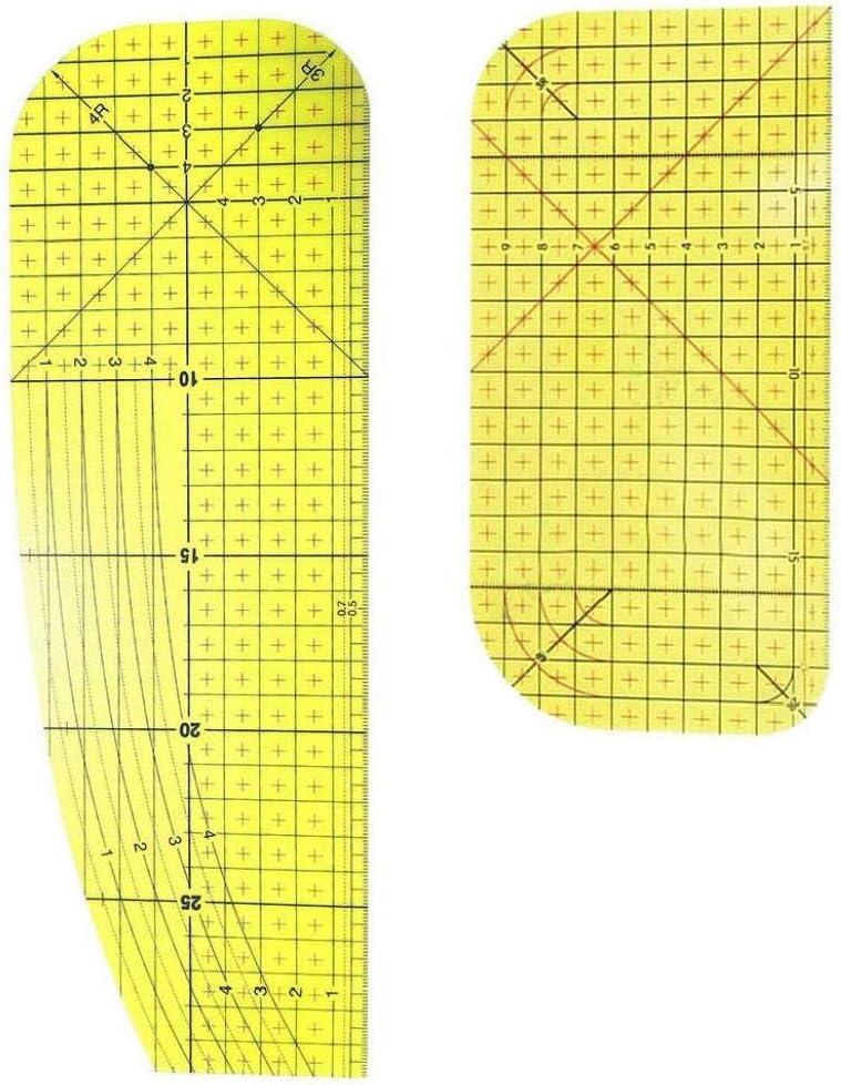 Regla De Planchado Patch Medida Remiendo De Medici/ón De Herramientas De Bricolaje De Costura Hecha a Mano Patch Herramientas Pr/ácticas para Hombres Y Mujeres