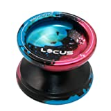Responsive Magic Yoyo Ball V6 LOCUS Black Blue Pink Splashes Aluminum Metal Yoyos for Kids Beginners with Bag Glove 5 Strings