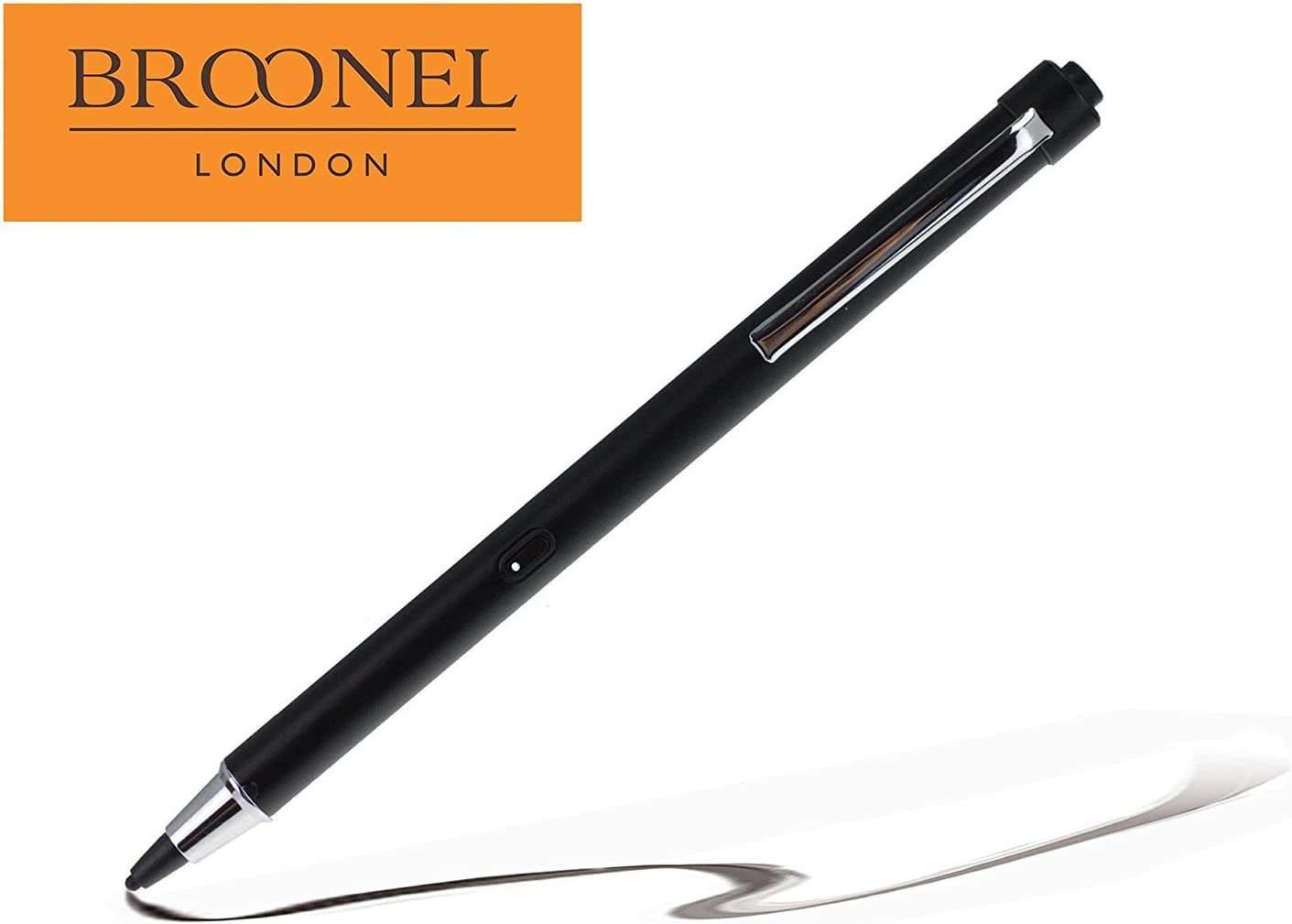 Broonel Midnight Black Rechargeable Fine Point Digital Stylus Compatible with The Microsoft Surface 2
