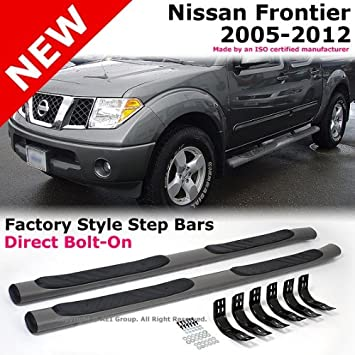 Amazon.com: 2005 To 2012 Nissan Frontier Crew Cab Side Nurf Bars Running  Board Side Step Tubes: Automotive