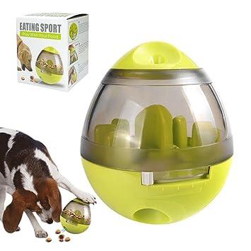 GOKKO - Dispensador de Comida para Perros, Juguete Interactivo con Bola de Hielo para Masticar Alimentos o Cachorros de plástico DE 10,16 cm: Amazon.es: ...