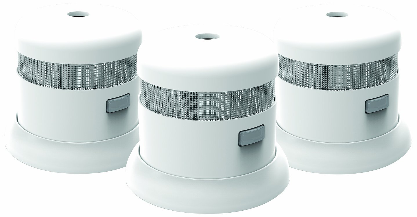 First Alert SMOKE1000 3 Atom Micro Photoelectric Smoke Alarm 3 Pack
