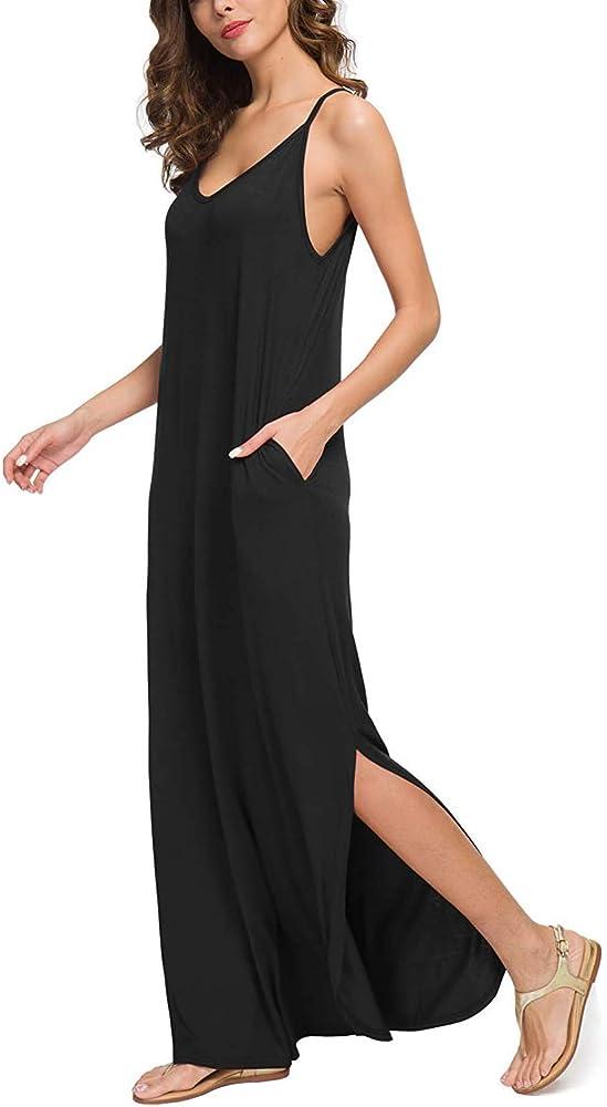 Vestidos Mujer Casual Playa Largos Boho Floral Maxi Vestido ...