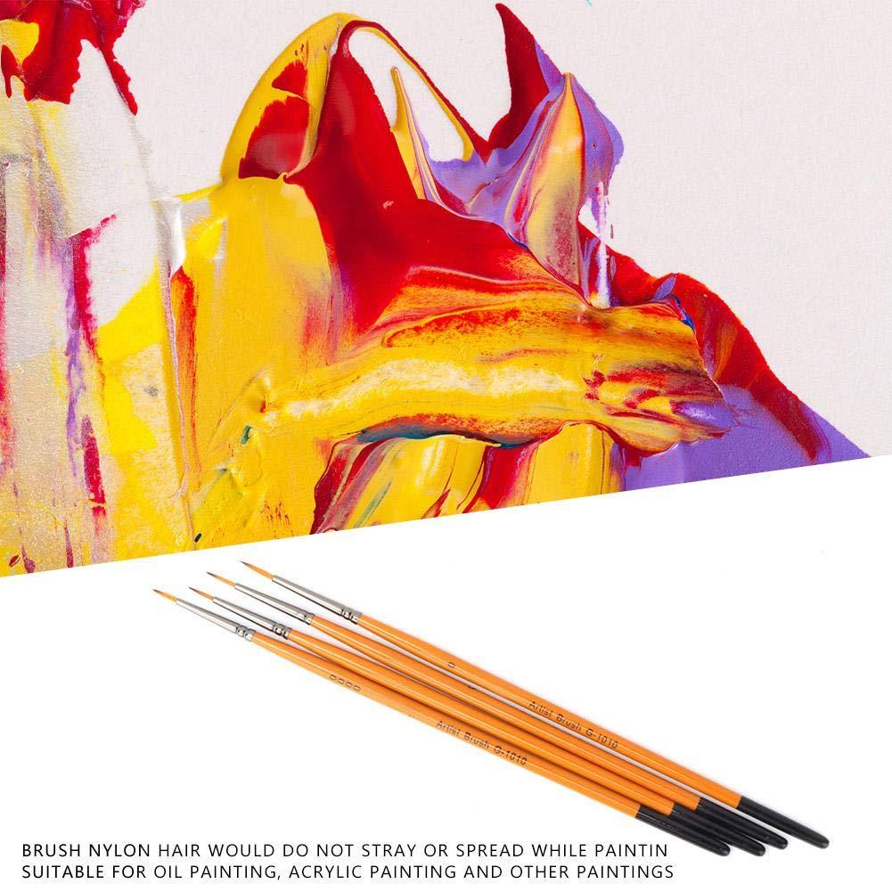 8 unids Arte Pintura Pinceles Arte Pintura Conjunto Herramienta para Herramientas de Pintura Al /Óleo Suministros Kits Arte Acuarela Acr/ílico Amarillo