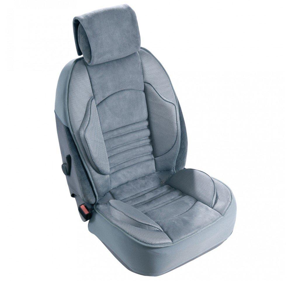 Couvre siege Grand Confort Airbags Lateraux Maille respirante avec Elasto system Gris CUSTO CONFORT SODI164570