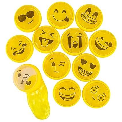 Amazon.com: kidsco emoticon masilla – Paquete de 24 – 2.25 ...