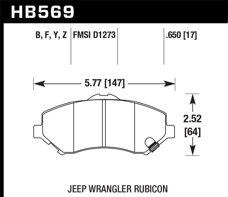 Hawk Performance HB295Y.630 LTS Brake Pad