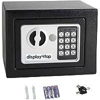 Display4top Elektronische Kluis, Beveiliging stalen kleine thuiskantoor digitale elektronische veilig met twee sleutels…