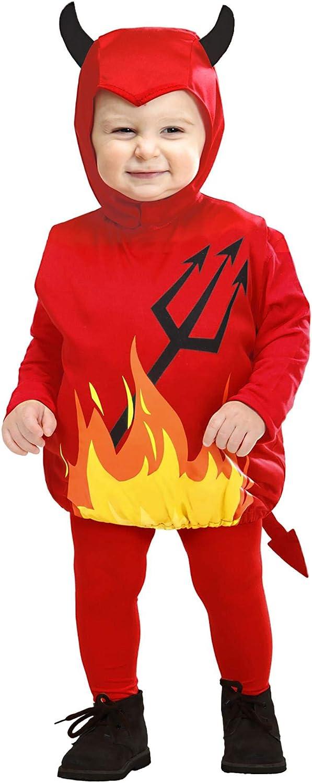 WIDMANN - Disfraz de diablo para niños de 1 a 3 años (SA-1897T)