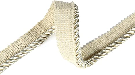 High Strength 36 Colors Durable /& Versatile 6mm Silky Barley Twist Cord /& 16mm Flanged Insertion Piping Upholstery Crafts Trimming Neotrims