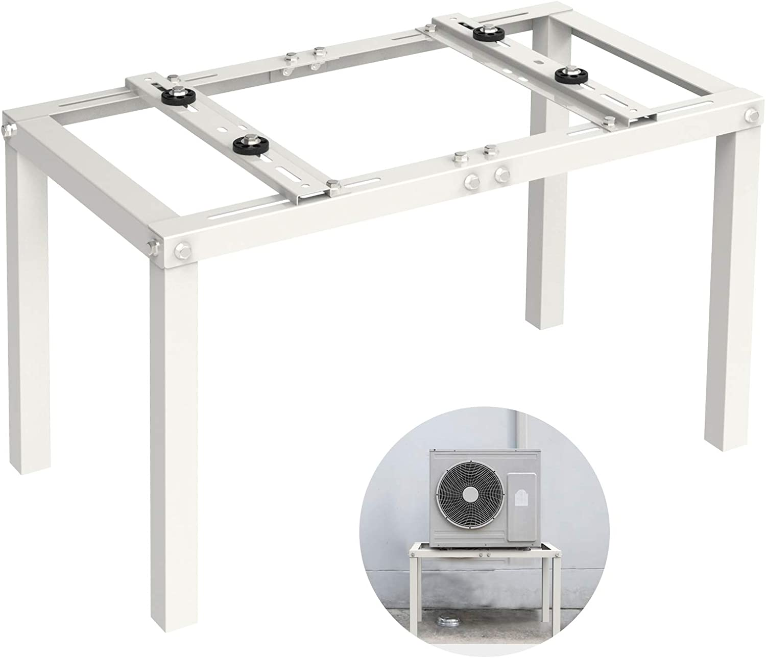 Condensor Mounting Brackets Support Jeacent Ground Stand Bracket for Mini Split Air Conditioner