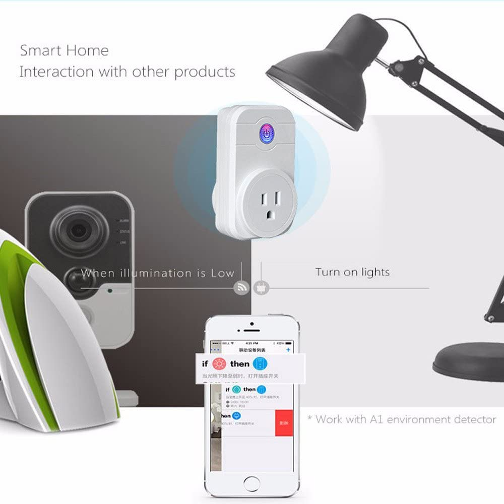 Home Kitchen Bathroom Decor Celiy Smart Socket WiFi Smart APP Remote Control Timer Socket US Plug Home Automation