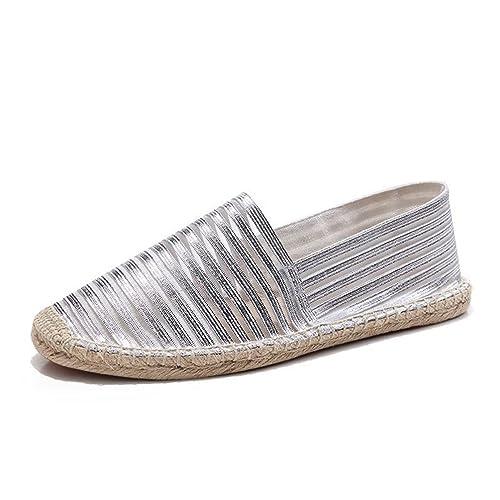 4df2d346274 Chaussure de Toile Plate Respirant Souple pour Homme Femme Été Espadrille  de Ville au Loisir Ajouré
