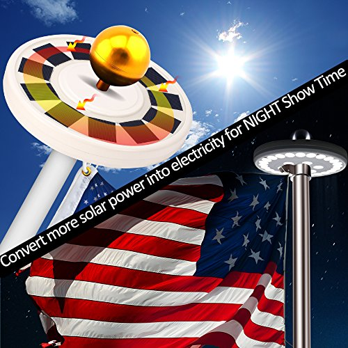 Solar-Flag-Pole-Light-LBell-30-LED-Flagpole-Lights-Solar-Powered-Night-Light-Flagpole-Downlight-Lighting-for-15-to-25-Ft-Top-Auto-OnOff-Energy-Saving-LEDs