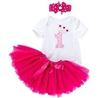 Marlegard® Bebé Niñas '3pcs 1st cumpleaños, tutú