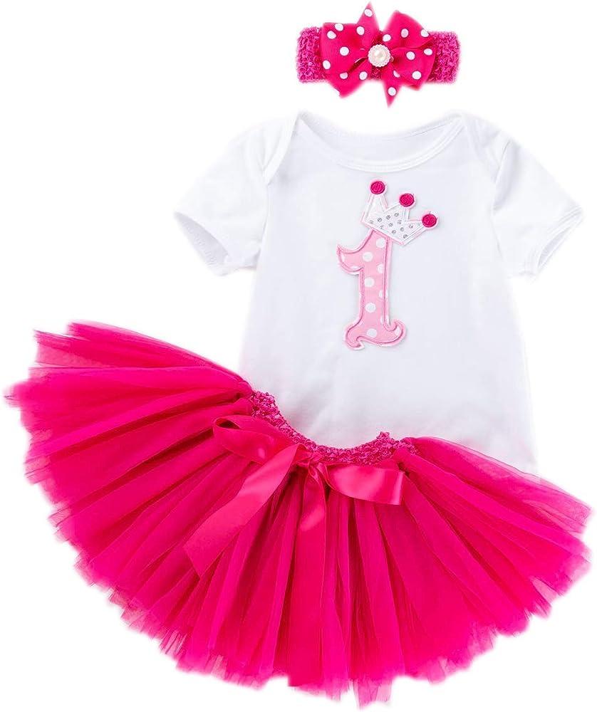 marlegard - Falda burbuja para bebé con body y diadema (3 piezas ...