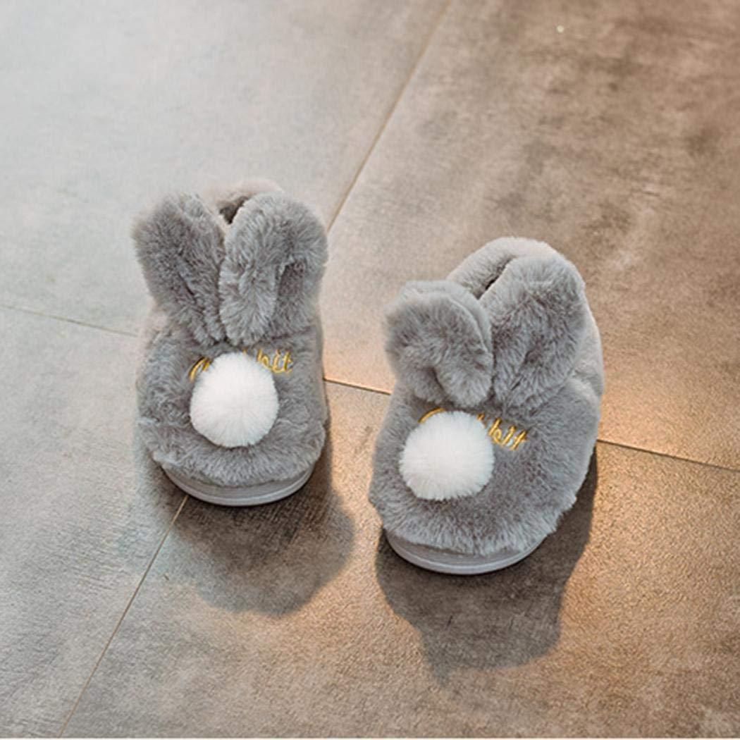 Creine Chaussures Enfant Lapin Mignon Fourrée en Coton Ultra Doux Chaude Antidérapant Hiver 1-6 Ans Blousons et vestes de sport