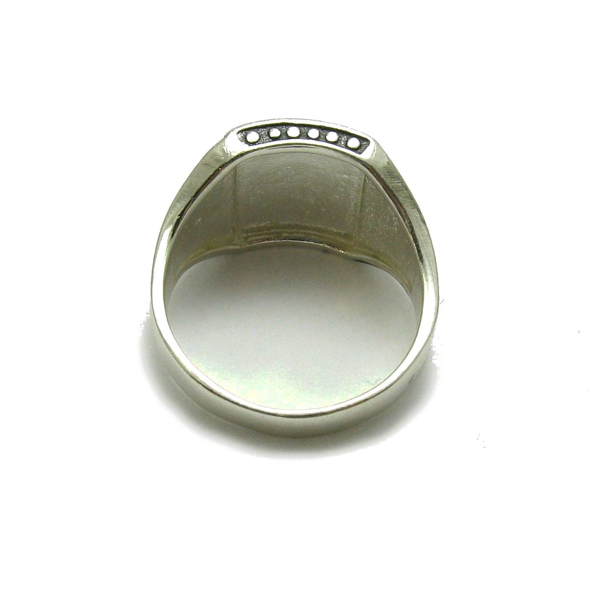Anillo plata de ley s/ólido 925 IYI Hombres R001719 Empress