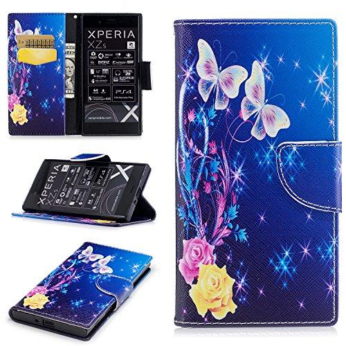 Para Sony Xperia XZ funda, (Bailarina de mariposas) caja del teléfono de la PU patrón en pintado ,Función de Soporte Billetera con Tapa para Tarjetas soporte para teléfono Bailarina de mariposas