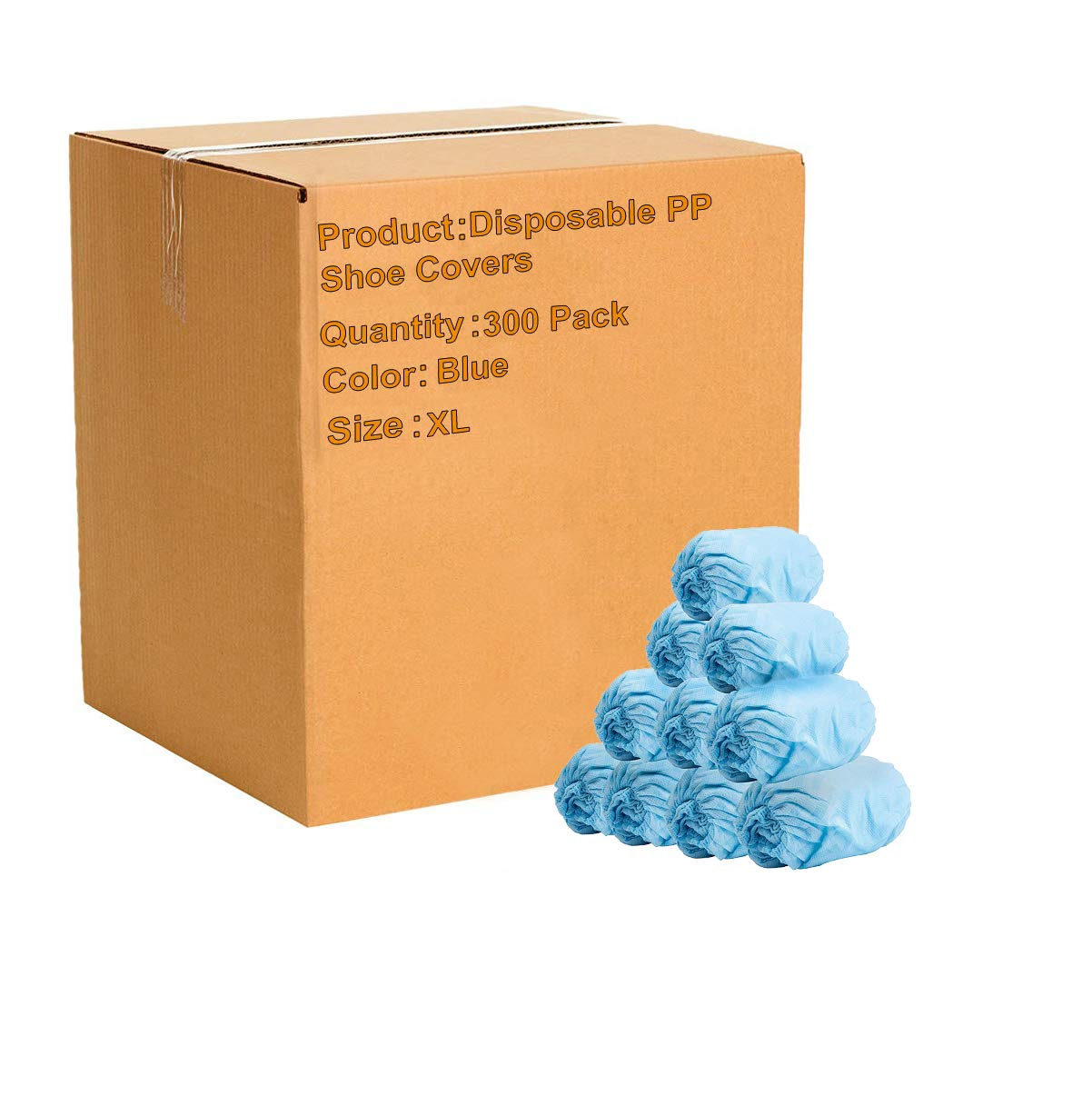 300 Pack of Disposable PP Shoe Covers. Blue Shoe protectors. Premium Quality Protective Shoe Covering. Recyclable Boot Covers. Non-Slip, Heavy-Duty, Thick Protection for Shoes. XL size. Wholesale. by ABC Pack & Supply